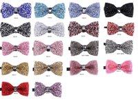 Nuevo lleno de pajaritas diamante para pajaritas de bodas discoteca banquete del banquete de boda del novio de muchos colores pueden elegir