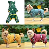 강아지 애완 동물 개 비옷 옷 glisten 바 hoody 방수 비 재킷 의류 도매 h210500