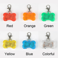 10pcs lot Cute Bone Style Safety Red Flashing LED Light Pet ...