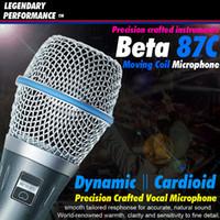 Frete grátis Professional Beta87C XLR Wired Stage Handheld Vocal microfone de karaokê Para Beta 87C 87 C BETA87A BETA 87A BETA 87 Mic Mike
