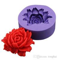 장미 꽃 DIY 3D 퐁당 케이크 초콜릿 Sugarcraft 금형 커터 실리콘 도구 H210320