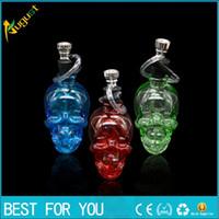 Eau pipe de narguilé Filtre porte-narguilé narguilé Mini Skull bong design shisha bangs en verre mélanger la couleur 2016