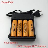 4 piezas a estrenar 18650 batería 3.7V 9900 mAh recargable li-ion para la batería 18650 batería + cargador de batería inteligente