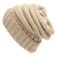 Autumn Winter Beanie Knit Wool Hat Warm Cap Coll For Mens Wo...