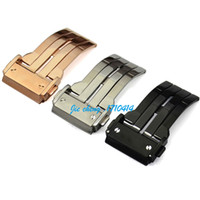 20mm 22mm 24mm Neue Hochwertige Edelstahl Uhrenarmband Faltschließe Leder Silikonband Verschluss für BIG BANG Serie