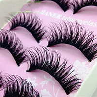 Natural Thick Criscross Eye Lashes Makeup Handmade Fake Cros...