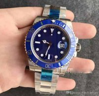 Mens Stainless Steel Case Blue Ceramic Noob V7 Best Edition ...