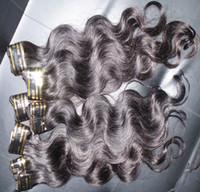 أرخص 50G الجسم موجة الجسم الهندية الإنسان ملحقات الشعر الداكن الشعر النسيج 5 حزم