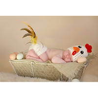 Super Adorable Animal style Crochet Knit Baby Hens Costume N...