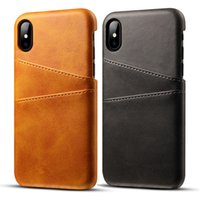6b37869f95b Hot Luxury Card Pocket PU Fundas de cuero Cubiertas dobles para iPhone x /  xs max