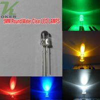 1000 adet 5mm Yuvarlak Su Temizle LED Işık Lambası beyaz Kırmızı Mavi Yeşil sarı pembe mor turuncu led Diyotlar Ücretsiz Kargo