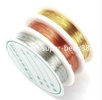 10pcs fils de cuivre perles cordons fil bricolage résultats de bijoux 0.2 / 0.3 / 0.4 / 0.5 / 0.8mm