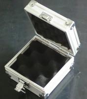 Boîte argentée en aluminium de cas de 1Pc alliage pour le kit de fourniture de machines de pistolet de tatouage
