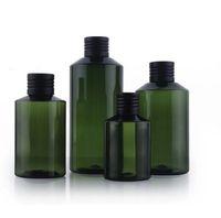 50 mL 100 mL 150 mL 200 mL garrafa embalagens de PET com 20pcs garrafa tampa de óxido de alumínio de cor verde escuro alta qualidade / lote