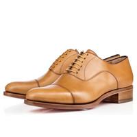 [Orijinal Kutu] Lüks Erkekler Kırmızı Alt Ayakkabı Trepeter Buzağı Mat Elbise Ayakkabı, Deri Ayakkabı, İş Ayakkabıları, Düşük Topuk Deri Ayakkabı