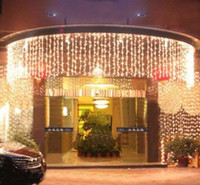 10 متر × 1.5 متر أدى توينكل الإضاءة 500 الصمام سلسلة عيد الميلاد الجنية الزفاف الستار خلفية حزب أضواء عيد الميلاد 110 فولت 220 فولت