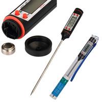 Sonda Termômetro de Alimentos PARA CHURRASCO Assado Líquido Termômetros de Churrasco LCD Dispaly Pen Stylus-50 A +300 Celsius Ao Ar Livre Cozinhar Ferramentas