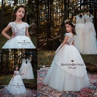 Vintage Embroidery Ball Gowns Kids Wedding Dresses Princess ...