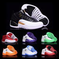 Scarpe goccia liberi di pallacanestro donne degli uomini 12 pattini XII scarpe da tennis 2018 nuovo colore di alta qualità a basso costo Sport Dimensioni 5,5-13