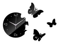 Creative living room butterfly wall clock acrylic clock wall...