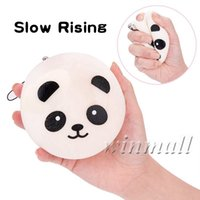 10cm Kawaii Jumbo Panda Squishy Super Lento Levantamiento Cute Cartoon Mini Chubby Suave Panda Encantos teléfono Strap Toy