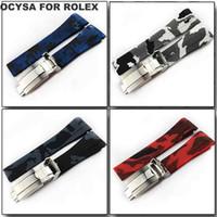 Cinturino per orologio in gomma marca COYSA per SUB 20mm Chiusura di distribuzione Accessori per fascia impermeabili con fibbia dirompente