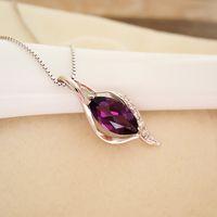100% pendentif améthyste naturel collier en cristal 925 solide en argent sterling nouveau pendentif mode pour femme brithday cadeau bijoux de fête parfait