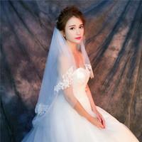 Y-o18 voiles en gros voiles de haute qualité vraies photos Vêtements de filet blanc violet pour tulle de mariée avec dentelle rapide livraison gratuite