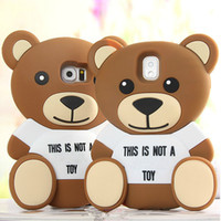 iPhone 6 7 8 X Cute 3D Cartoon Teddy Bear Soft Silicone Case Back Cover for Samsung Galaxy S8 S7 S6 S5 A5 A7 E5 E7 Note3 4 5 8
