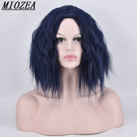 Short Body Wave Synthetic hair Wig High Temperature Fiber Da...