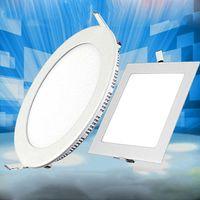 رقيقة جدا LED السقف راحة لوحة ضوء النازل جولة ساحة 3W 9W 12W 18W إضاءة داخلية AC85-265V CE UL