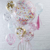 Latex Free Balloon Gold Confetti Balloons Party Decoration B...