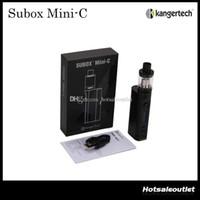 Otantik Kangertech Subox Mini-C Başlangıç Kiti W / O Pil ile Kanger TC 50 w KBOX Mini-C Mod ve 3.0 ml Protank 5 Atomizer 100% Orijinal