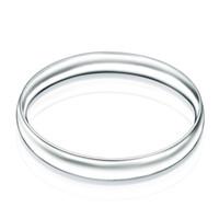 Fabrik direkt Großhandel 925 Sterling Silber Armband Armreifen Mode ohne konkave glatte Runde Silber Armband