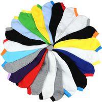 도매 - 봄 여름 남성 패션 캔디 컬러 보트 양말 남성 발목 양말 남자 양말 슬리퍼 20pcs = 10pairs / lot