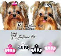 New Pet Accessories resin crown clip Dog Bows Dog Grooming H...