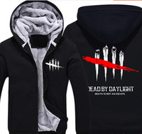 Game Dead by Daylight Super Warm Thicken Fleece Zip Up Hoodi...
