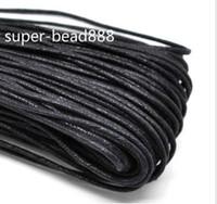 검은 왁 스 코튼 목걸이 코드를 만드는 400m 공예 보석 2mm 무료 배송