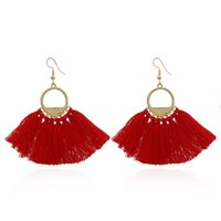 Boho Tassel earrings Charm Colorful Ethnic Long tassel women...