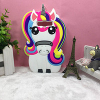 3D Cartoon Unicorn Soft Rubber Case For Samsung Note 8 S6 S7...