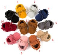 11 color Baby PU Leather Moccasins walker shoes boys girls k...