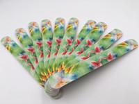 Mode kleurrijke nagelvijl schattige bloem vlinder afbeelding ontwerp schuren schuurpapier rechte rand nagel kunst levert