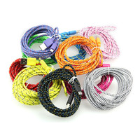 wholesale 3m 2m 1m Fabric Braided Nylon Data Sync USB Cable ...