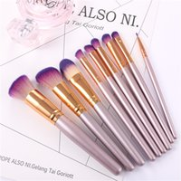 Vander Professional 9Pcs lot Gold Make Up Brushes Set Founda...