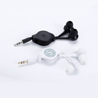 retractable 3. 5mm earphone simply in- ear headsets with cable...