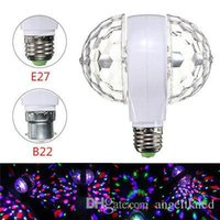 E27 B22 LED KTV Bulbs Enabled RGB LED Rotating Light 3W Doub...