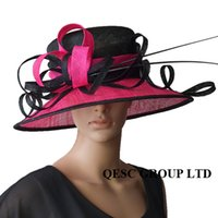 Elegant Sinamy Church Hat,trimming ostrich feather for wedding,kentucky derby,church