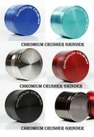 CRUSHER CROMO de alta calidad de metal tabaco amoladoras de aleación de zinc herramientas de fumar rápido Trituradora de cromo Dia 40 mm 50 mm 55 mm 63 mm 75 mm 4 capas