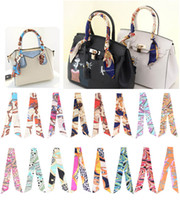 Fashion Multifunction Print Scarf For Handbags Handle 17 col...