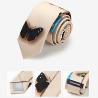 Impressão de alta qualidade gravata 145 * 5 cm 6 estilos borboleta padrão gravatas para o Dia dos Pais Gravata de negócios dos homens Presente de Natal Livre FedEx TNT